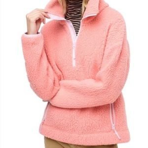 J. Crew Polartec Fleece Half-zip Pullover Rose
